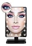 Miroir lumineux de maquillage de LED avec le miroir de loupe amovible de 10x Miroirs de vanité éclairés par PLUSINNO ...
