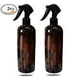 mlmsy Vaporisateur vide Ambre Grand conteneur rechargeable pour huiles essentielles de nettoyage Produits ou Aromathérapie Gâchette Noir et réglages Stream
