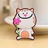 MMRM Style de chat de bande dessinée Autocollant magnétique réfrigérateur Aableau déco maison