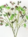 Mode Bouquet,fleurs artificielles petite herbe viburnum de fruits en gazon artificiel en plastique pour la décoration d'intérieur (ensemble de 2) ...