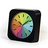 Mode Rainbow Alarm Clock Mode Pastoral Réveil Tridimensionnel Ultra-silencieux Avec Luminous Double Bell Réveil Écran étudiant Horloge Horloge électronique,Black
