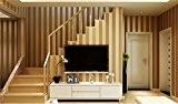 Moderne&Minimaliste Papier peint non-tissé flocage Lustre nacré Motif de Rayures verticales abstrait Décoration Murale Style lignes pour Salon Chambre Fond ...