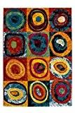 Moderne tapis design Thaïlande - Phuket 120cm x 170cm Rainbow Rainbow
