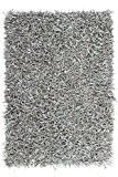 Moderne tapis Designer Rodeo 300 gris Ø 140 cm en cuir rond 100%