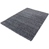 Moderne tapis Designer Shaggy VIE carré GREY 200 X 200