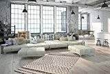 Moderner Designer Teppich Annaba Elfenbein 80cm x 150cm