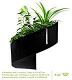 Modul'Green - Pot pour plantes mural Design - Intérieur / Extérieur - Noir