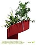 Modul'Green - Pot pour plantes mural Design - Intérieur / Extérieur - Rouge