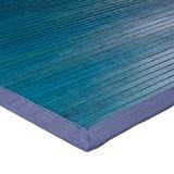 MonBeauTapis 121233 Solo Tapis Bambou Bleu 180 x 120 cm