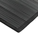 MonBeauTapis 165303 Tapis Bambou Noir 230 x 160 cm