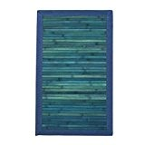 MonBeauTapis 457233 Solo Tapis Bambou Bleu 75 x 45 cm