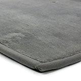 MonBeauTapis Tapis Gris Extra Doux Antidérapant  Flanelle Polyester 170 x 120 cm