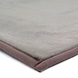 MonBeauTapis Tapis Taupe Extra Doux Antidérapant  Flanelle Polyester Taupe 230 x 160 cm
