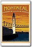Montreal Clock Tower, Canada Vintage Travel Fridge Magnet - Aimant de réfrigérateur