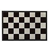 Motif damier noir et blanc intérieur Paillasson Tapis de porte d'entrée Paillasson décor géométrique tapis de bain moderne Famille Welcome ...