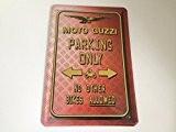 Moto guzzi parking only-panneau en métal de 20 x 30 cm, carport plaque parking garage 4