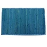 MSV 140524 Tapis Bambou Bleu 80 x 50 x 0,1 cm