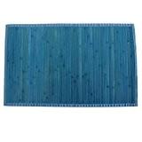 MSV 140530 Tapis Bambou Bleu 90 x 60 x 0,1 cm