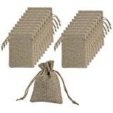 Mudder Sacs de Lin avec des Sacs Cadeaux Drawstring pour Fête Mariage et Bricolage, 4.5 x 3.5 Pouces, Lot de ...
