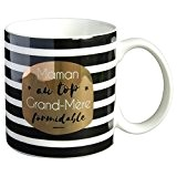 Mug cadeau à message  Maman au top, Grand-Mère formidable