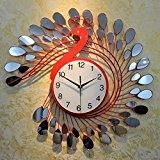 NabothT Modern Frameless Large Wall Clock Watches Hours DIY Room Home Decorations58*58CM , red