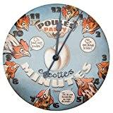 NATIVES 610490 Horloge Relief Métal Multicolore 9,9 x 5 x 7 cm