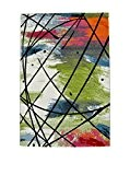 NAZAR RIO814 Rio Tapis Matériel Synthétique Multicolore 170 x 120 cm