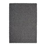 NAZAR-TRENDY Tapis Shaggy uni gris foncé 160x230cm