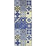 NAZAR UTO250B Utopia 250 Tapis Matériel Synthétique Bleu 150 x 80 cm