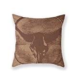 NEW ARRIVAL standard Taie d'oreiller personnalisée Country Vache crâne du Texas Couverture Taie d'oreiller 18x 18carré coton Taie d'oreiller en ...