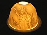 New york lanterne photophore en porcelaine pour bougie chauffe-plat