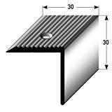 Nez de marche / Cornière pour escaliers (30 mm x 30 mm), aluminium anodisé, foré, couleur: bronze foncé