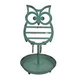 NIKKY HOME Bijoux Display Hanger Jewelry stand Holder rack en métal Owl Crochets pour boucles d'oreilles Collier Bracelets Organizer Vintage ...