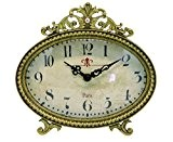 NIKKY HOME Horloge de table avec Vintage Design Quartz analogique bureau et étagère pour Salon Salle de bain Décoration Métal ...