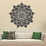 NINGSANJIN Autocollants d'art de décalque murale de garniture de fleur de mandala