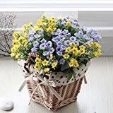 NOHOPE Décorations créatives Accueil Salon fleurs de soie d'émulation de Fleurs séchées Fleurs artificielles fleurs paniers de fleurs de lavande ...