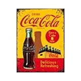 Nostalgic art 14321 coca-cola in bottles, jaune