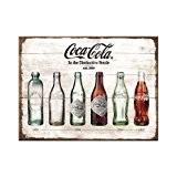 Nostalgic-Art 14335Magnet en métal Motif Bouteille de Coca Cola au fil du temps