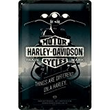 Nostalgic-Art 22256 Harley-Davidson Things Are Different, plaque de, métal, multicolore, 20 x 30 x 0,2 cm