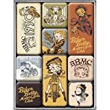 Nostalgic-art-bilderpalette 83033 policier-magnet betty boop-set 9 pièces