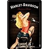 Nostalgic art harley davidson 10270 biker babe blechpostkarte 10 x 14 cm