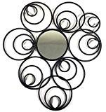 Nouveau - Métal art de mur Décor de Sculpture - miroir abstrait cercle