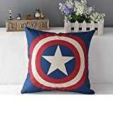 Nouvelle Fashion Taie d'oreiller Housse de coussin THE AVENGERS Ironman Superman Batman Green Lantern Captain America Spider-Man déformation à tarte ...