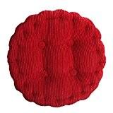 Nunubee Coussins de Chaise en Velours Côtelé Coussins en Coton et Housses pour Chaises Hautes, Rouge