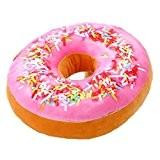 Nunubee Mignon Coussins en Forme de Donuts Coussins de Chaise Décoratifs Oreillers Jouet En Peluche, Rose