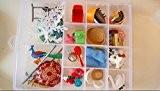 NUOLUX 14-grille en plastique réglable bijoux organisateur boîte stockage conteneur caisse avec séparateurs amovibles (Transparent)