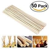 NUOLUX Bâtonnets de bois couleur huile diffuseur remplacement rotin Reed 50pcs