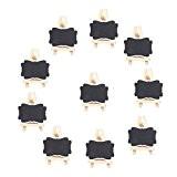 NUOLUX Mini Tableaux Craie Mini Ardoises avec chevalet pour Panneaux à Message Board Pack de 10 - taille L