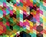 """ohpopsi """"Geometrix Papier peint, papier, multicolore, Taille L"""