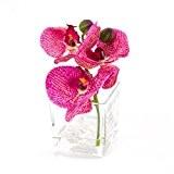 Orchidée Phalaenopsis artificielle en vase, rose-crème, 15 cm, Ø 15 cm - orchidée en pot / fleur décorative - artplants